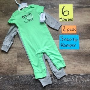 🛍NWT Carter's 6 Months 2pk of One Piece Outfits